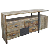 Emir Wood & Iron Media Stand, Natural
