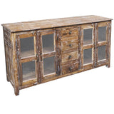 Mina Wood & Glass Sideboard, Natural