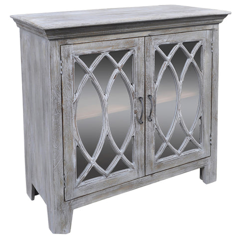 Delonna Wooden Chest, Gray