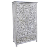 Rahele Wooden Armoire, White