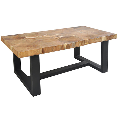 Melek Iron & Wood Coffee Table 48""