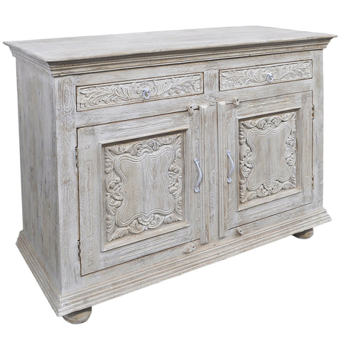 Emel Wood & Iron Chest, Light White