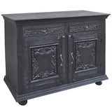 Emel Wood & Iron Chest, Black