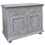 Emel Wood & Iron Chest, Gray
