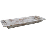 Coperto Wooden Tray, Light Gray Wash