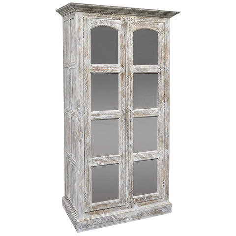 Gobbo Wooden Cabinet, Light White