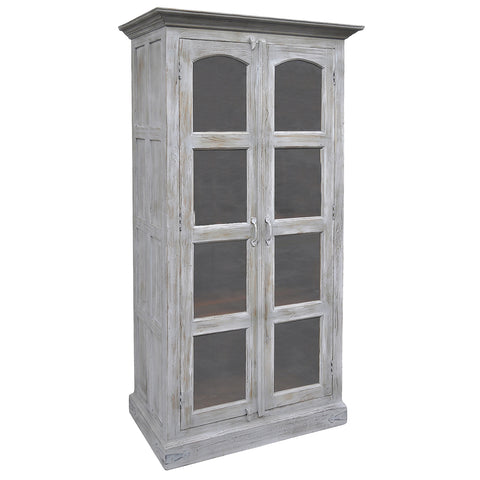 Gobbo Wooden Cabinet, Gray