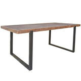 Panarea Metal & Wood Dining Table