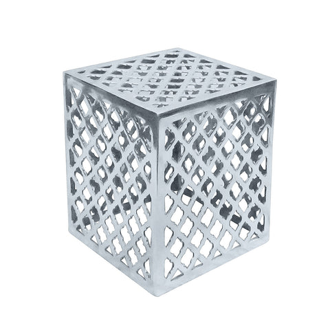 Bern Aluminum Side Table Medium, Aluminum