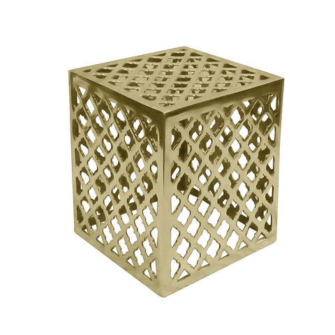 Bern Aluminum Side Table Medium, Gold