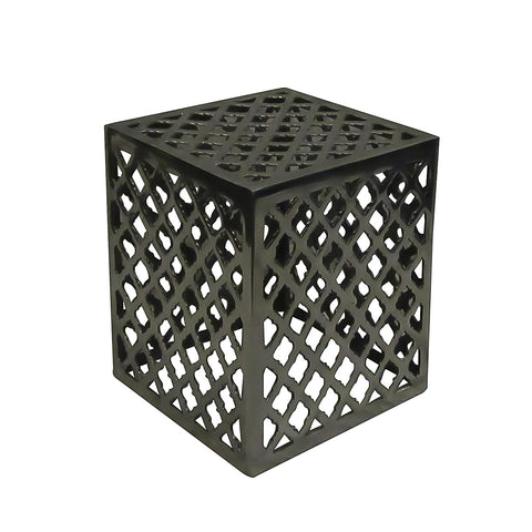 Bern Aluminum Side Table Large, Bronze
