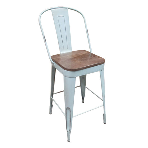 "Frenchy Counter Stool - 25"" seat, Sky Blue"