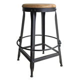 "Sydney Industrial Stool, 25"" High"