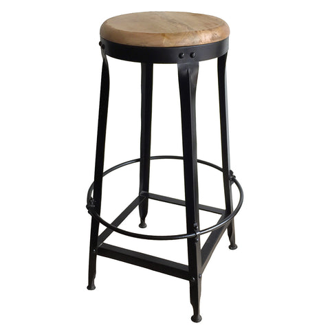 "Sydney Industrial Stool, 30"" High"
