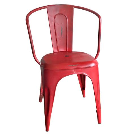 Port Iron Chair, Red