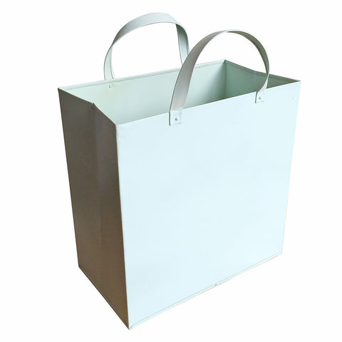 Metal Basket with Metal Handles Sky Blue, Large