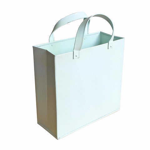 Metal Basket with Metal Handles Sky Blue, Small