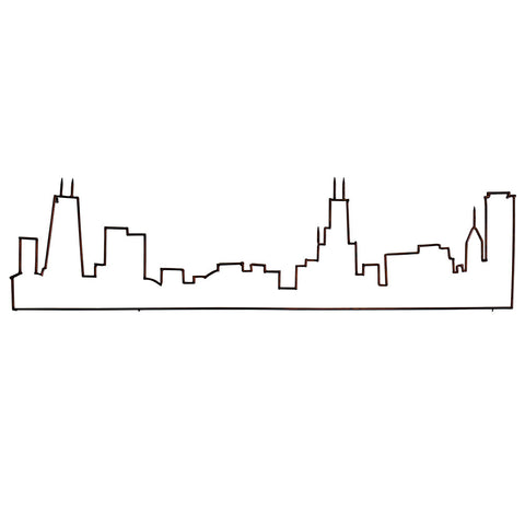 "Chicago Skyline Wall Art, 70"" Long"