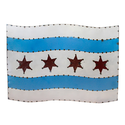 Chicago Flag Wall Art, 54
