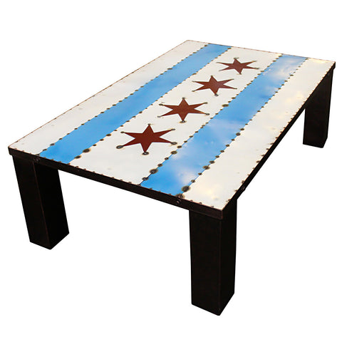 Chicago Flag Coffee Table