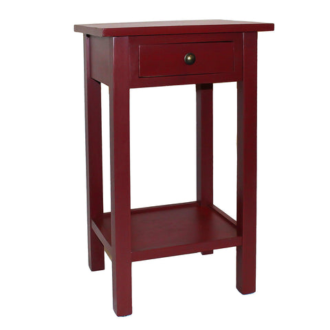 Griffin Side Table, True Red
