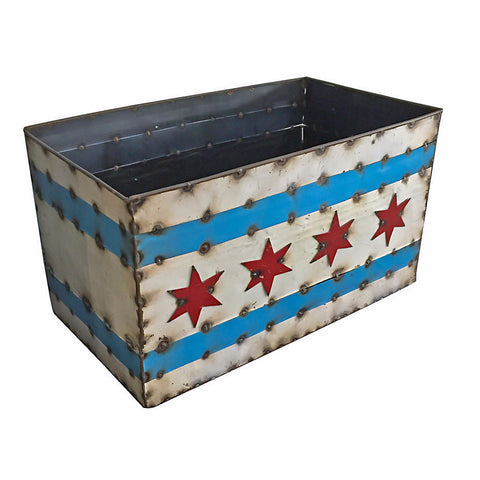 Chicago Flag Planter