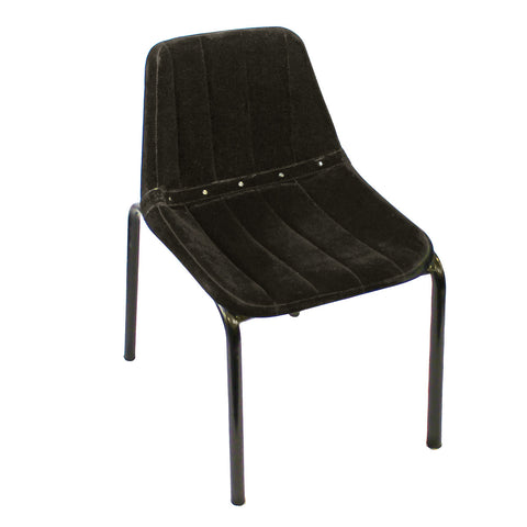 Washington Velvet Chair, Black