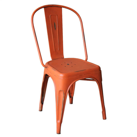Iron Chair, Industrial Orange