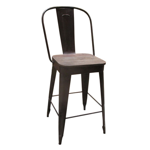 "Frenchy Counter Stool - 25"" seat, Rustic"