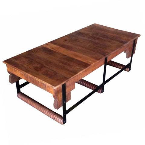 Jamison Iron and Wood Coffee Table