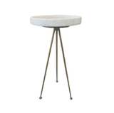 Nolan Iron and Marble Side Table