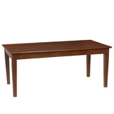 "Farmhouse Dining Table 72"", Light Mahogany"