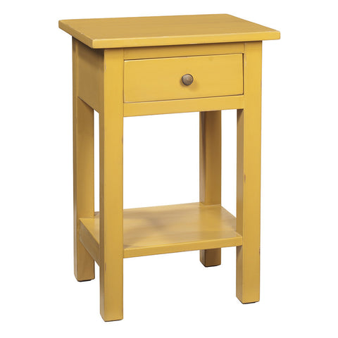 Tarakan End Table, Sunset Gold