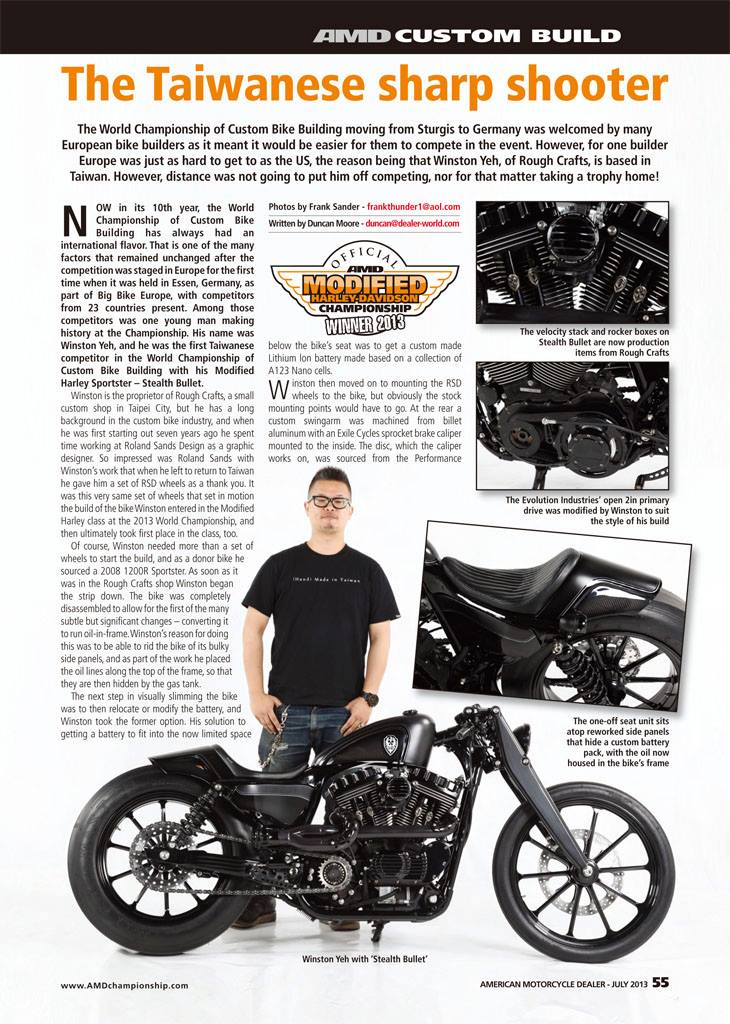 Rough Crafts Stealth Bullet in AMD mag - July 2013, #168!!