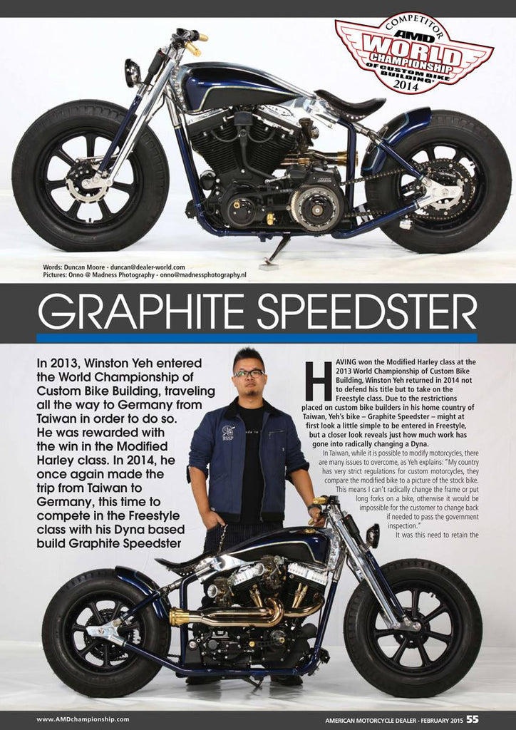 Graphite Speedster in AMD mag - Feb 2015, #187!!