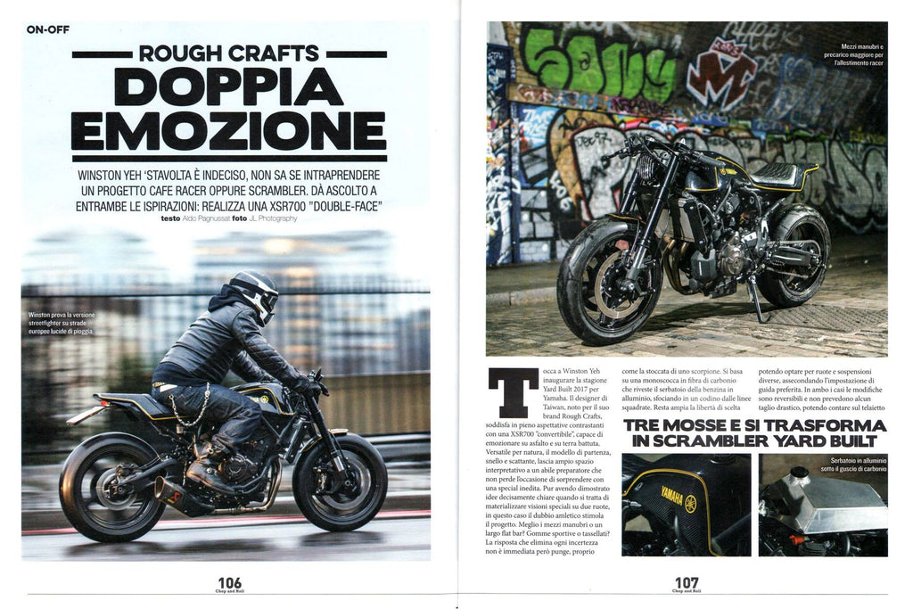 ROUGH CRAFTS YARD BUILT XSR twins on CHOP and ROLL N.31, Aprile!!