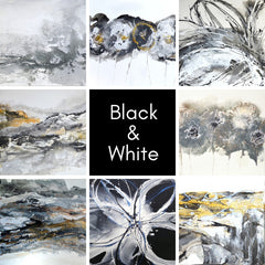 Black & White Abstract Art