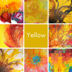 Yellow Abstract Art