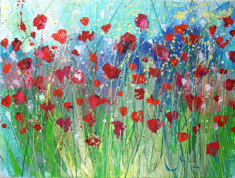 Poppy paintings