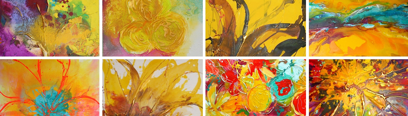 yellow paintings