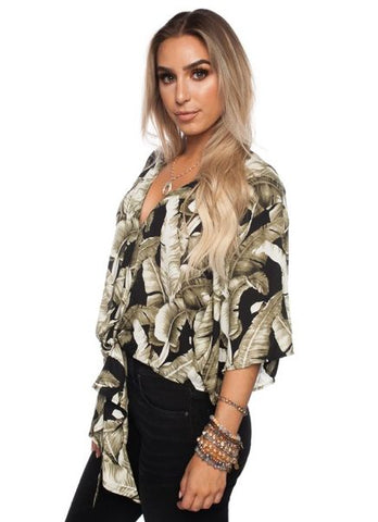 'Muse' Top in Plantana Print by Buddy Love