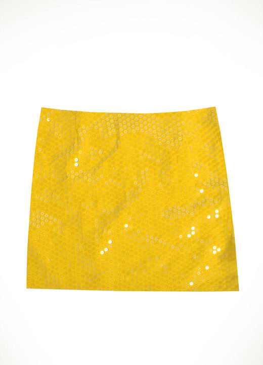 Judith March Gold Sequin Mini Skirt