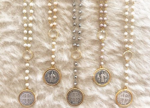 """Blessed Benedict"" Necklaces by Bijoux By Bonnet"