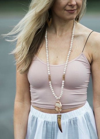 Betsy Pittard 'Byron' Necklace in Tan