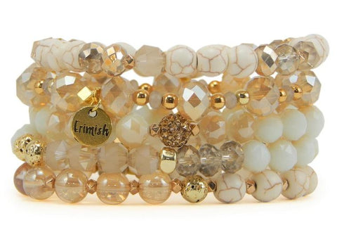 "Erimish ""Coconut"" Stretch Bracelets - Assorted Colors"