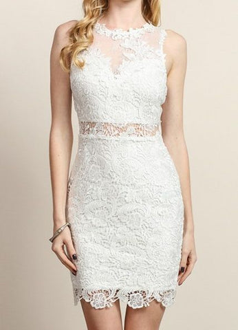 Lace Cocktail Dress in White