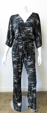 """Denver"" Surplice Kimono Sleeve Jumpsuit by Veronica M."