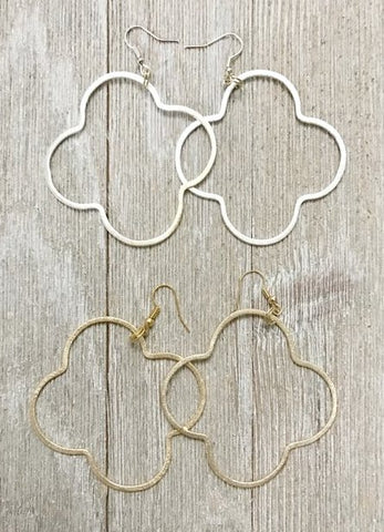 """The Quatrefoil"" Earrings by Bijoux By Bonnet"