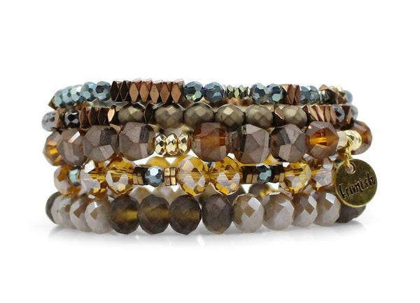 "Erimish ""Golden Nugget"" Stretch Bracelets - Assorted Colors"