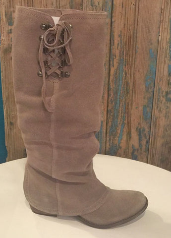 """Winter Blues"" Taupe Suede Boot"